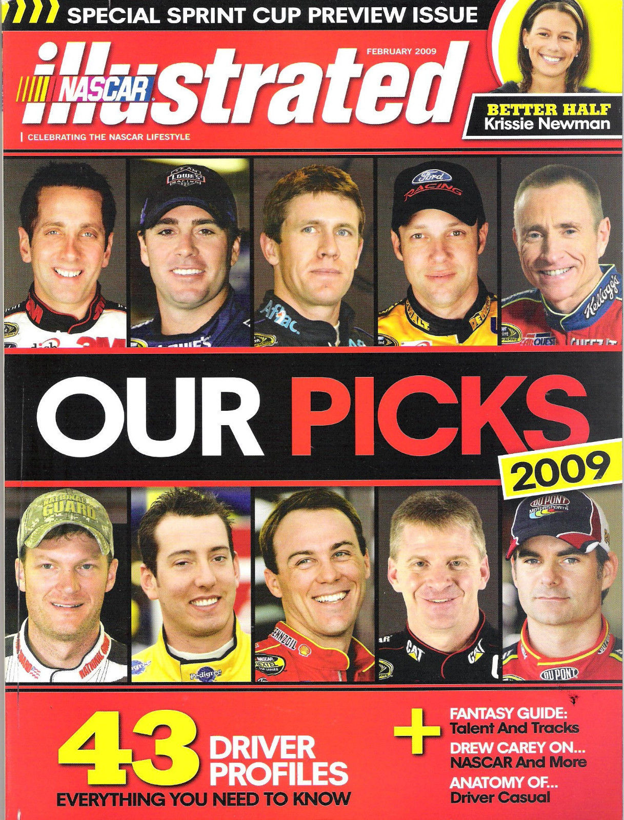 Nascar Illustrated February 2009 Special Sprint Cup Preview Issue Our Picks