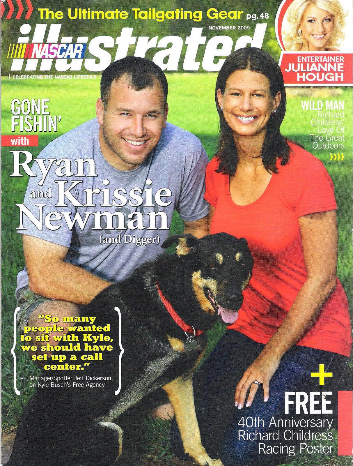 Nascar Illustrated November 2009 Ryan & Krissie Newman RCR 40 Year Anniv Poster