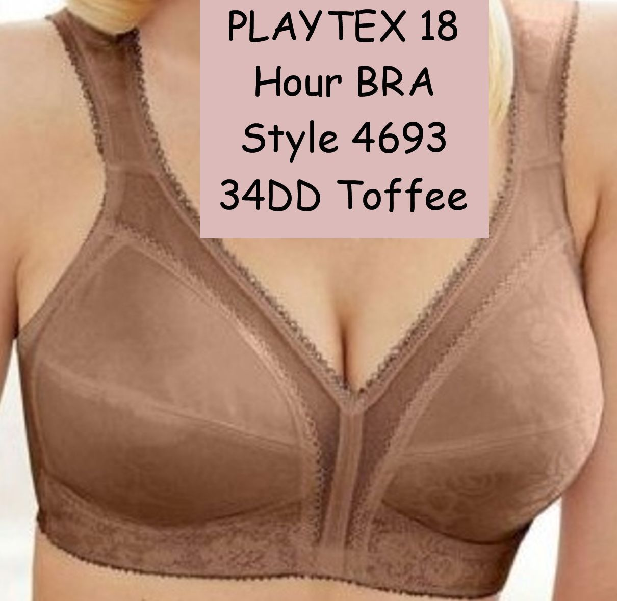 Playtex 18 Hour Bra Style 4693 Size 34DD Toffee Color