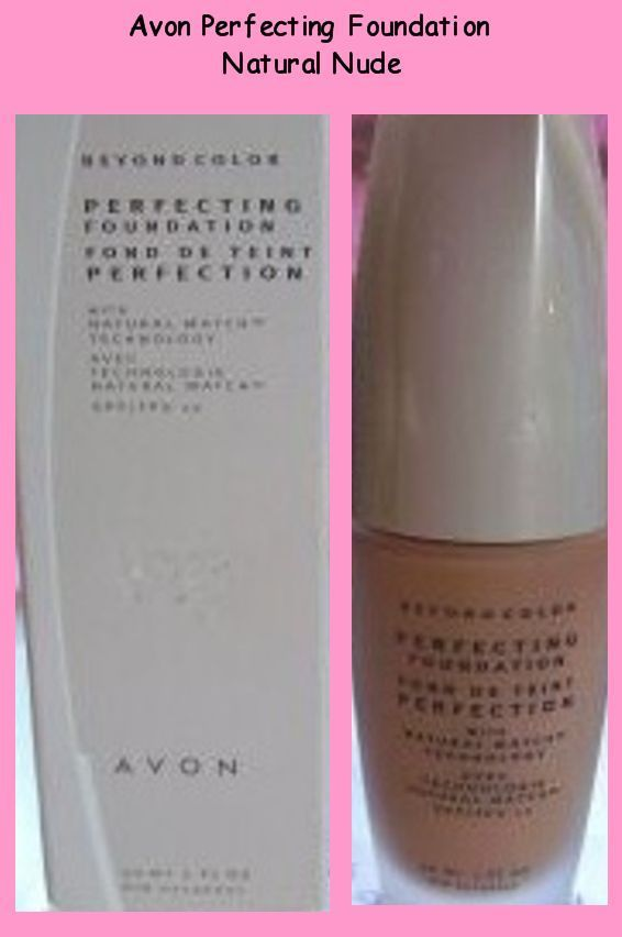 Avon Beyond Color Perfecting Foundation  Natural Nude  1 Fl Oz New In Orig Box