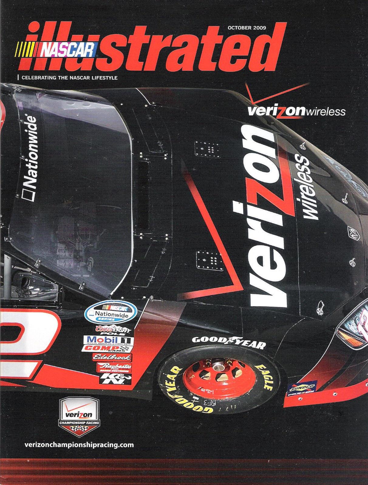 Nascar Illustrated October 2009 Verizon Jeff Gordon Opens Up Ryan Newman Poster
