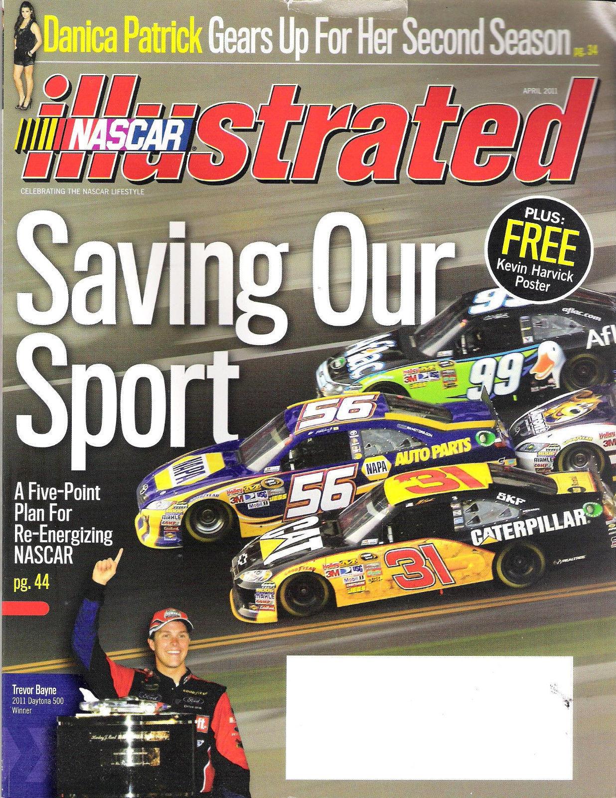 Nascar Illustrated April 2011 Trevor Bayne Wins At Daytona Danica Patrick