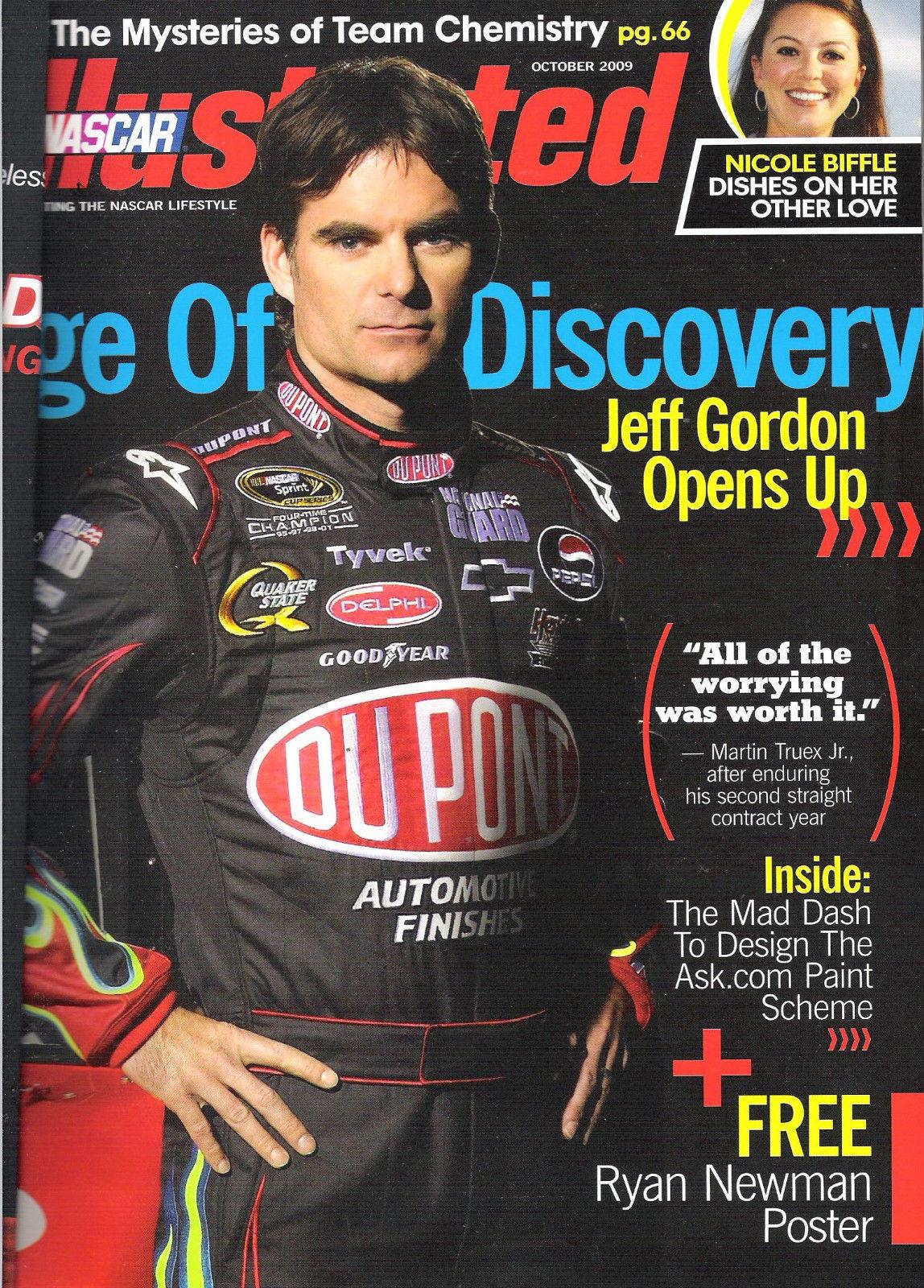 Nascar Illustrated October 2009 Verizon Jeff Gordon Opens Up Ryan Newman Poster image 2