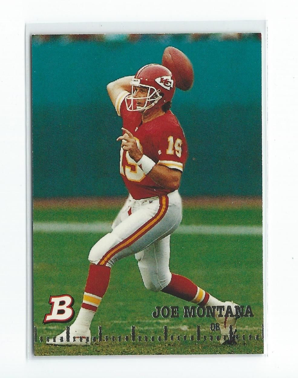 1994 Bowman Joe Montana #100 -Kansas City Chiefs-Hall Of Fame-