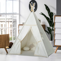 Kids Teepee Tent for Girls Children Play Teepee Play House Canvas Lace T... - $54.50