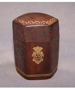 Antique Match Box Leather  2.25  English  1899  Antique - $100.00