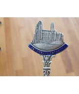 Cantebury Cathedral England Enamel Sterling Silver Souvenir Spoon - $29.99
