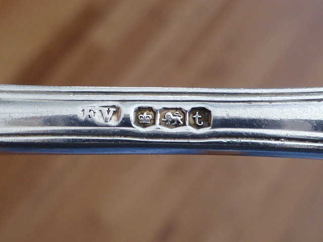 1911 E Viners Sterling Silver Table Spoon Kings Pattern Sheffield England BGC image 3