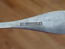Old Coin Silver Salt Mustard Spoon Seldon COLLINS Utica NY New York MMB image 3