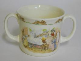 1988 ROYAL DOULTON ~ Bunnykins ~ Washing Up ~ 2 Handle Cup / Mug ~ Rabbits - $29.95
