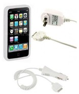 Wall AC Adapter + Car Charger + USB Cable + Case for iPhone 4 4G - $8.95
