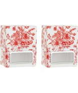 HomeWorx Harry Slatkin Set 2 Toile Plug-In Diffusers Red Toile NEW H217005 - $11.86