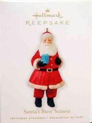 Santa's Busy Season- Handcrafted-#QXG7343- 2010 Hallmark Keepsake Ornament