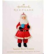 Santa's Busy Season- Handcrafted-#QXG7343- 2010 Hallmark Keepsake Ornament - $10.99