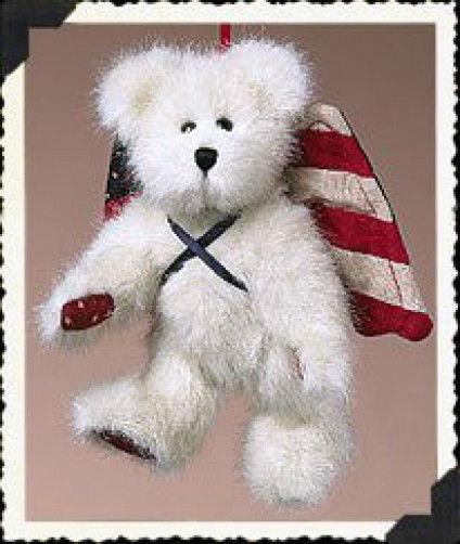 "Boyds Bear ""Dandy Doodle"" #562470  - 6"" Patriotic angel bear-NWT- Retired"
