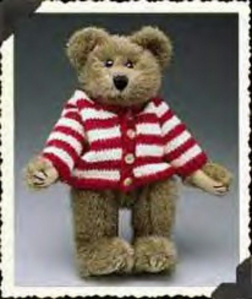 """Boyds Bear """"Waldo Bearsworth""""  - #912045- 11"""" Plush Bear- 1999- NWT- Retired"""