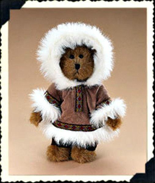 """Boyds Bear """"Edmund""""  8"""" Plush Eskimo Bear - #9175-27 ~NWT - 2006 - Retired"""