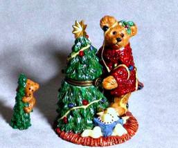 "Boyds Le Bearmoge Porcelain Box ""Elliot & The Tree"" #392006- 1E-NIB-1999-Retired - $24.99"
