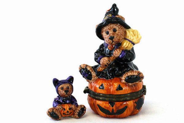 "Boyds Le Bearmoge- Porcelain Box ""Emma The Witchy Bear"" #392002-2E-New- Retired - $22.99"