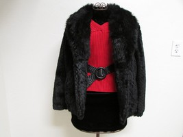 Beautiful Alpine Studio Faux Black Fur Jacket Size M image 1