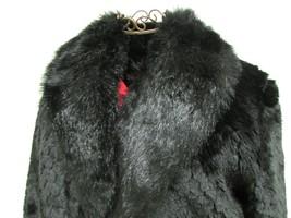 Beautiful Alpine Studio Faux Black Fur Jacket Size M image 3