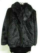 Beautiful Alpine Studio Faux Black Fur Jacket Size M image 2