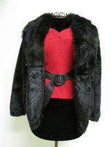 Beautiful Alpine Studio Faux Black Fur Jacket Size M image 5