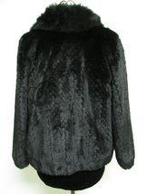 Beautiful Alpine Studio Faux Black Fur Jacket Size M image 6
