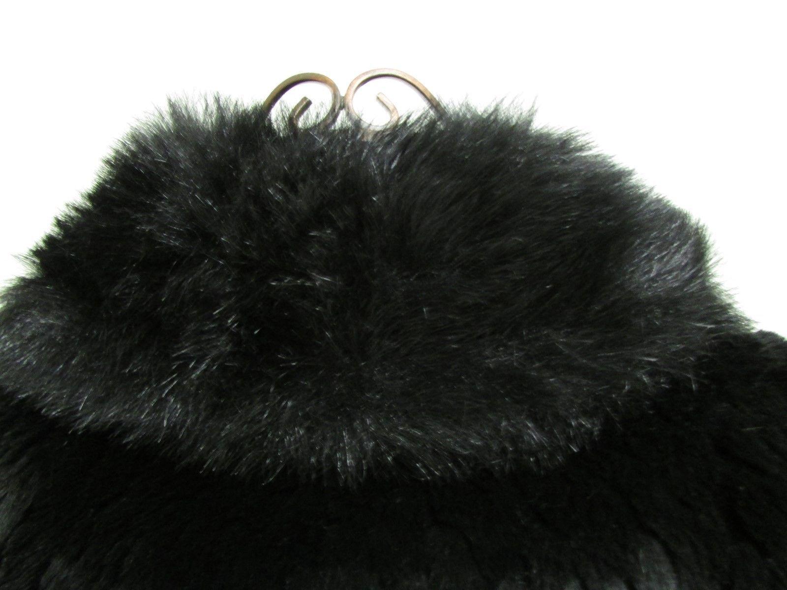 Beautiful Alpine Studio Faux Black Fur Jacket Size M image 7