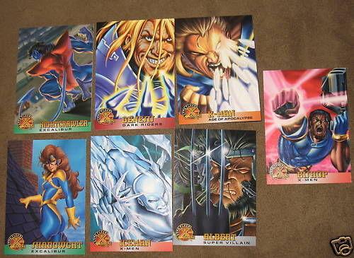 1996 X-Men Trading Cards Marvel set of 7 Near Mint Iceman Genesis Bishop Albert
