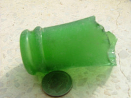Big Complete Genuine Forest Green Bottle Neck  Rim Sea Beach Glass From Israel image 1
