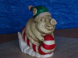 #0830 Piggy Sleigh Ride Statue image 1