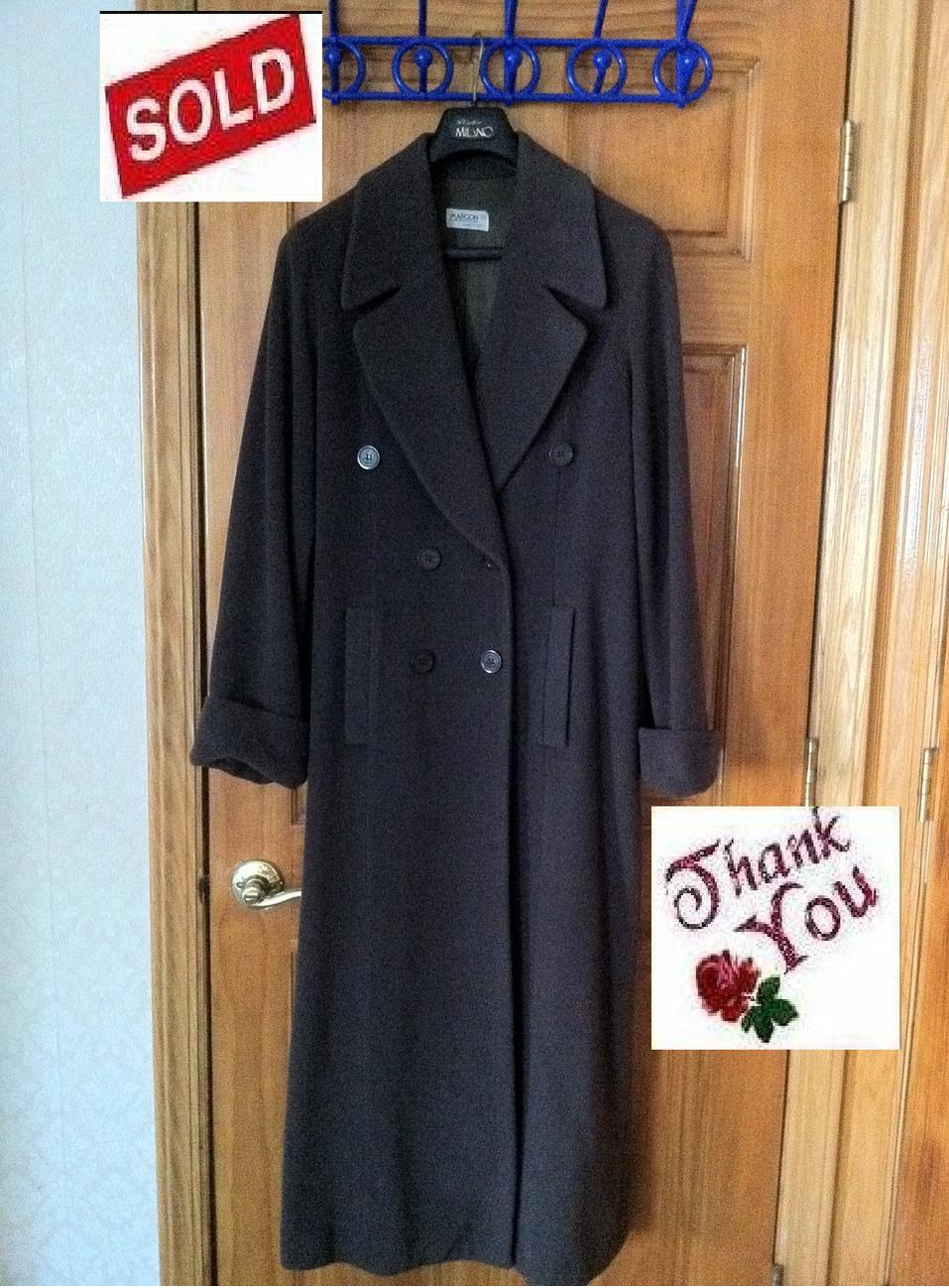 Italian classic margon design green long coat wool