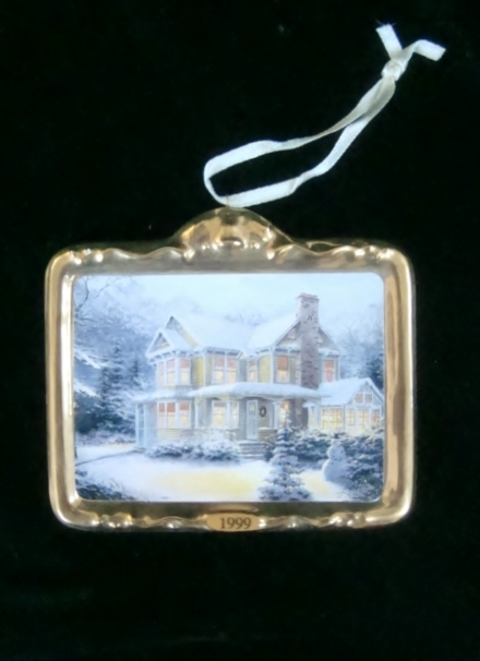 Hallmark Thomas Kinkade Victorian Christmas III Ornament, No Box