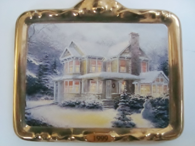 Hallmark Thomas Kinkade Victorian Christmas III Ornament, No Box image 4