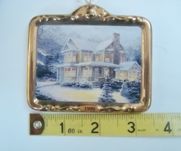 Hallmark Thomas Kinkade Victorian Christmas III Ornament, No Box image 5
