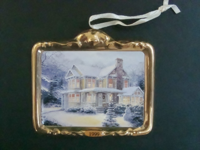 Hallmark Thomas Kinkade Victorian Christmas III Ornament, No Box image 6