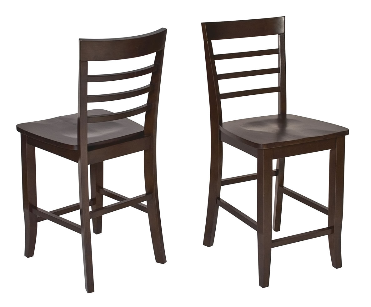 3 pc set espresso wood bar bistro square pub table 2 pub for Bar stool table