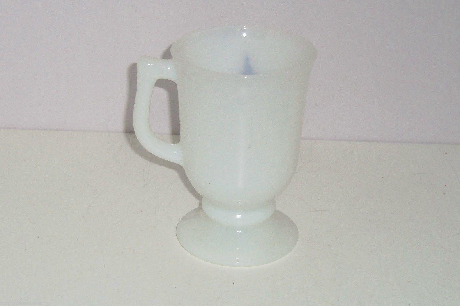 Walt Disney Productions Coffee Mug World White Glass Footed Barbara Vintage image 2