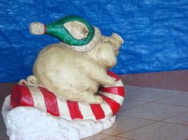 #0830 Piggy Sleigh Ride Statue image 3