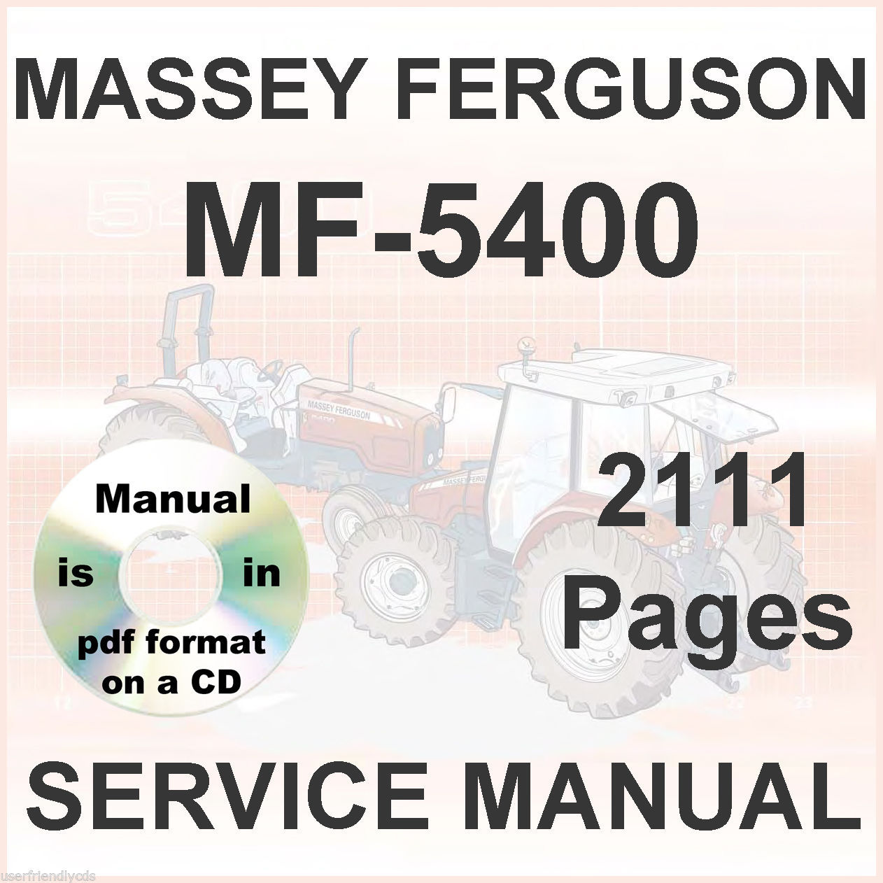 Massey Ferguson MF 5470 5460-SA 5470-SA 5475-SA  Tractors Shop Service Manual CD