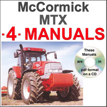 McCormick MTX MTX135 MTX140 MTX150 Tractor Service & Operator Manual -4- MANUALS image 1