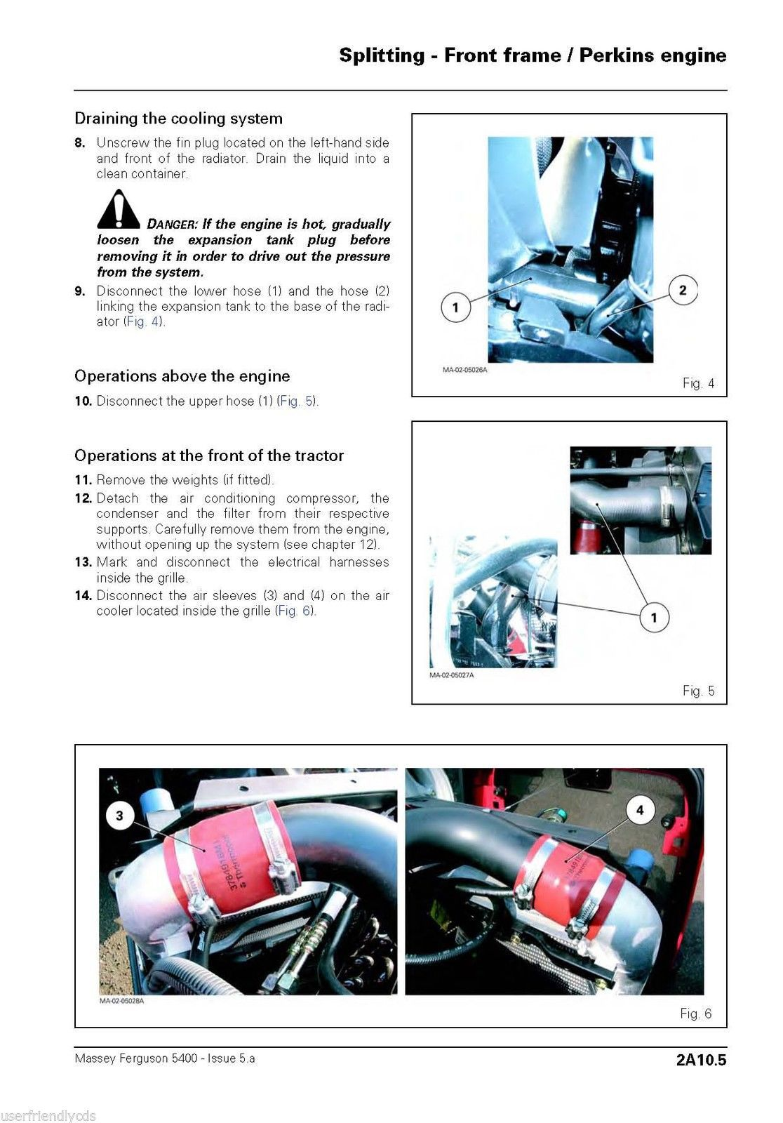 Massey Ferguson MF 5470 5460-SA 5470-SA 5475-SA  Tractors Shop Service Manual CD image 7