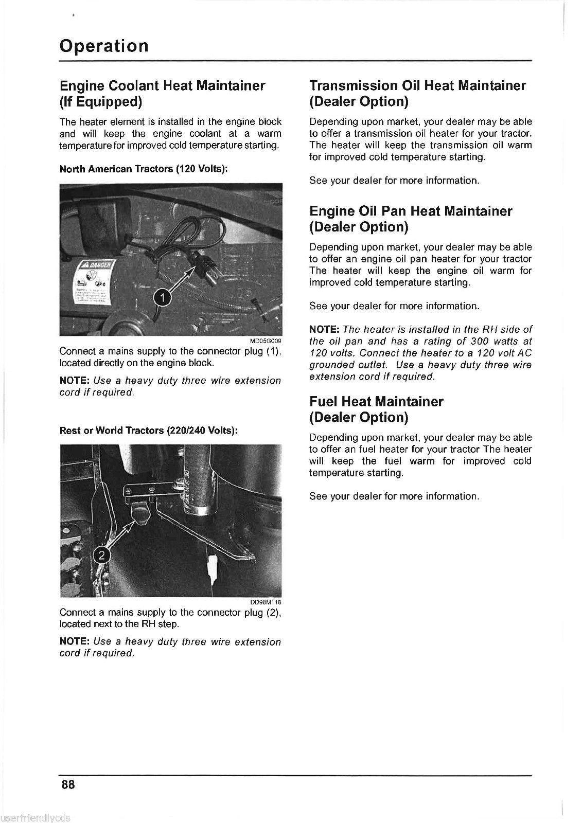 McCormick MTX MTX110 MTX120 MTX125 Tractor Service & Operator Manual -4- MANUALS