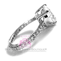 Beauty for Ashes®Classic White Gold 925 Sterling Silver Royal Engagement CZ Ring image 2