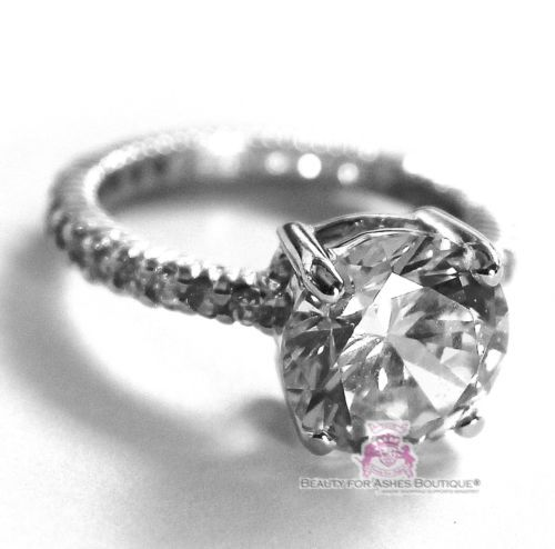 Beauty for Ashes®Classic White Gold 925 Sterling Silver Royal Engagement CZ Ring image 3
