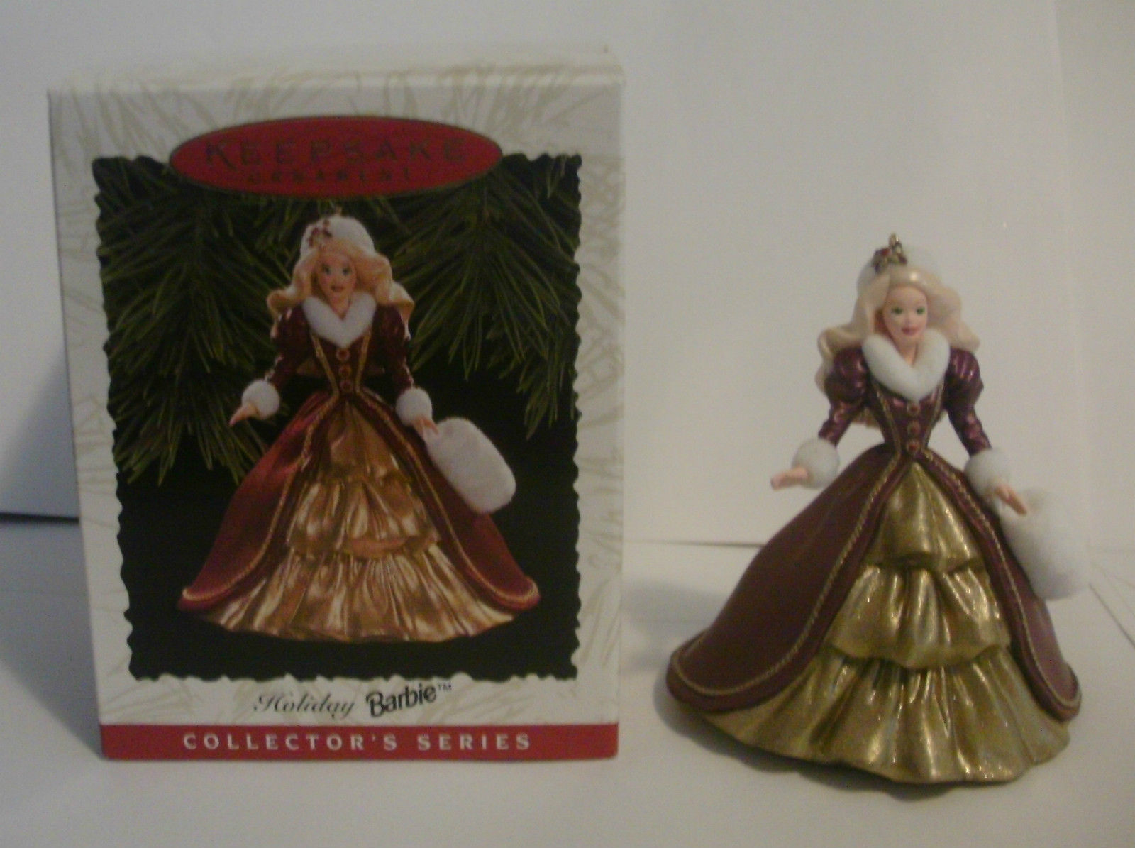 1996 Hallmark - HOLIDAY BARBIE ornament Collectors Series