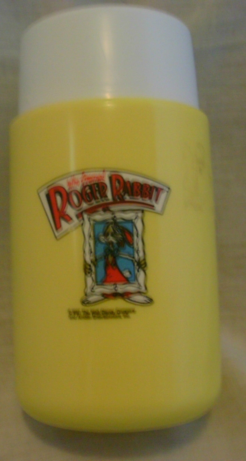 1987 Thermos Brand Who Framed Roger Rabbit Lunch Box w/Thermos Don't Make Waves!