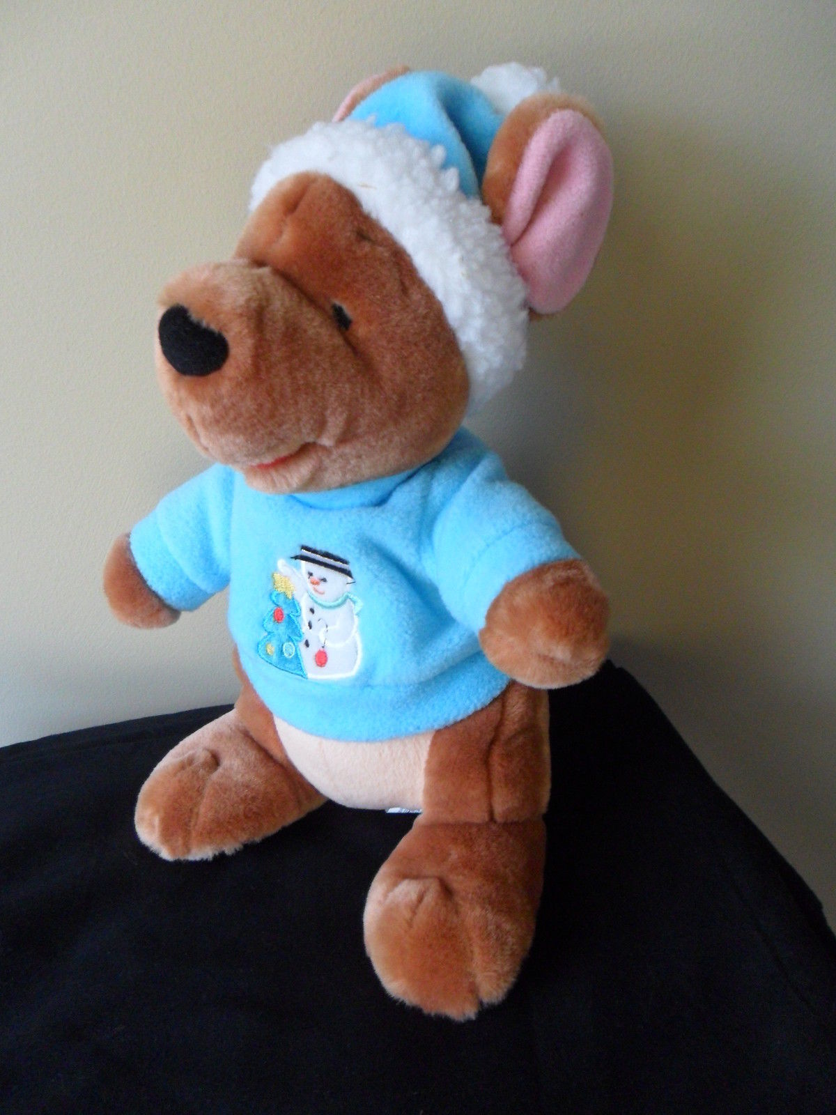 "Roo Winnie the Pooh  Plush Stuffed Animal Christmas Holiday Snowman Winter 11"" T"