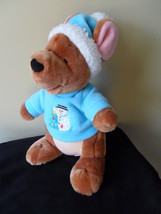 "Roo Winnie the Pooh  Plush Stuffed Animal Christmas Holiday Snowman Winter 11"" T image 1"